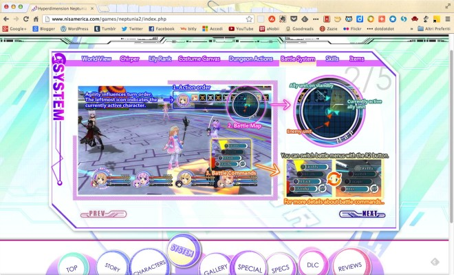 neptunia mk2 - battlescreen