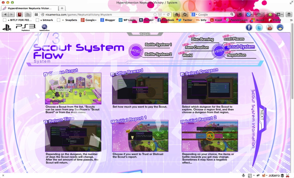 neptunia v - scout system
