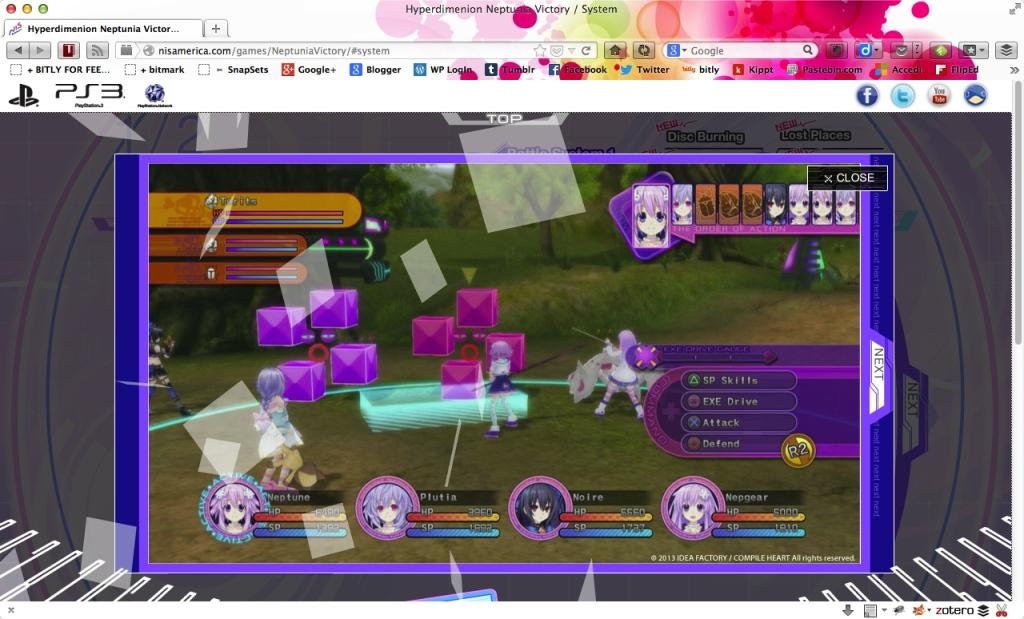 neptunia v - battlescreen
