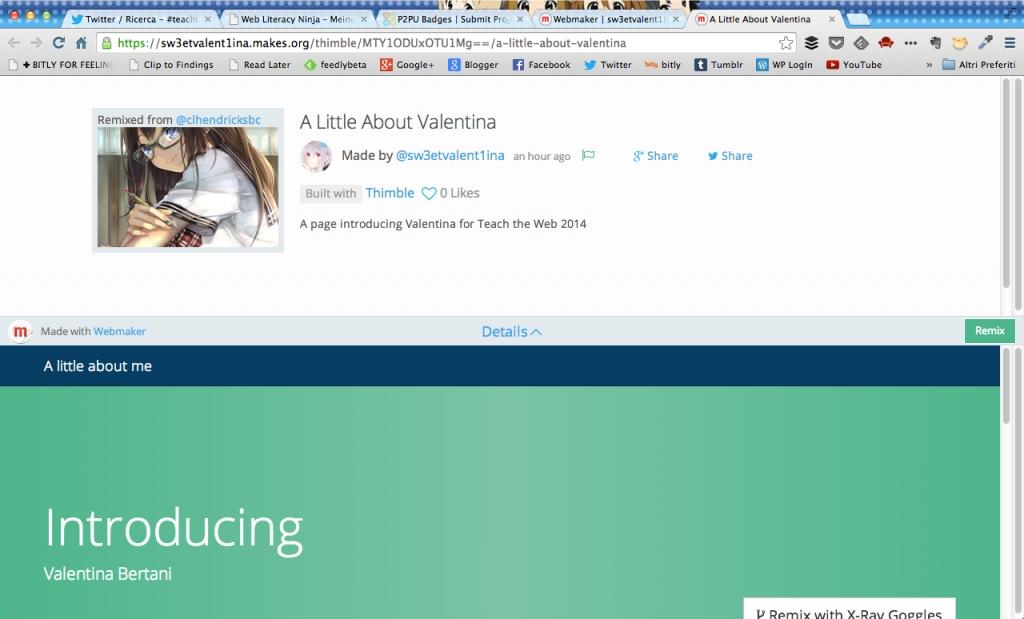 una screenshot da mozilla webmaker