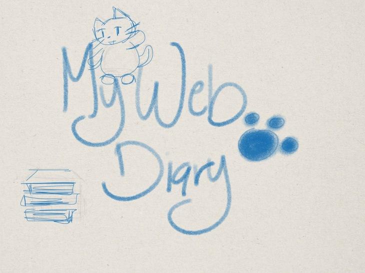 schizzo con titolo blog e gatto