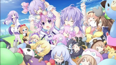 neptunia v playing with stuffed dolls