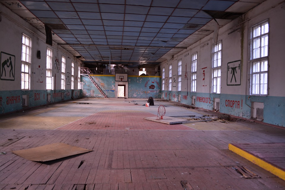 abandoned gym