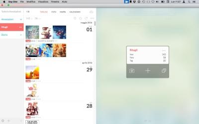 screenshot del mio commonplace book su day one