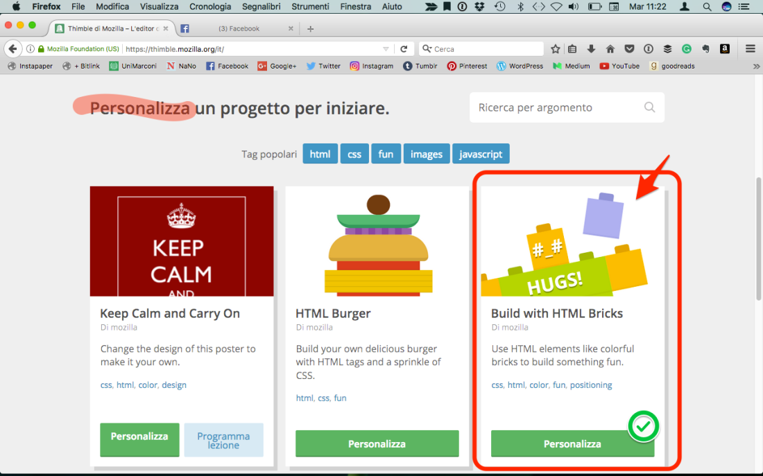 homepage thimble - projects